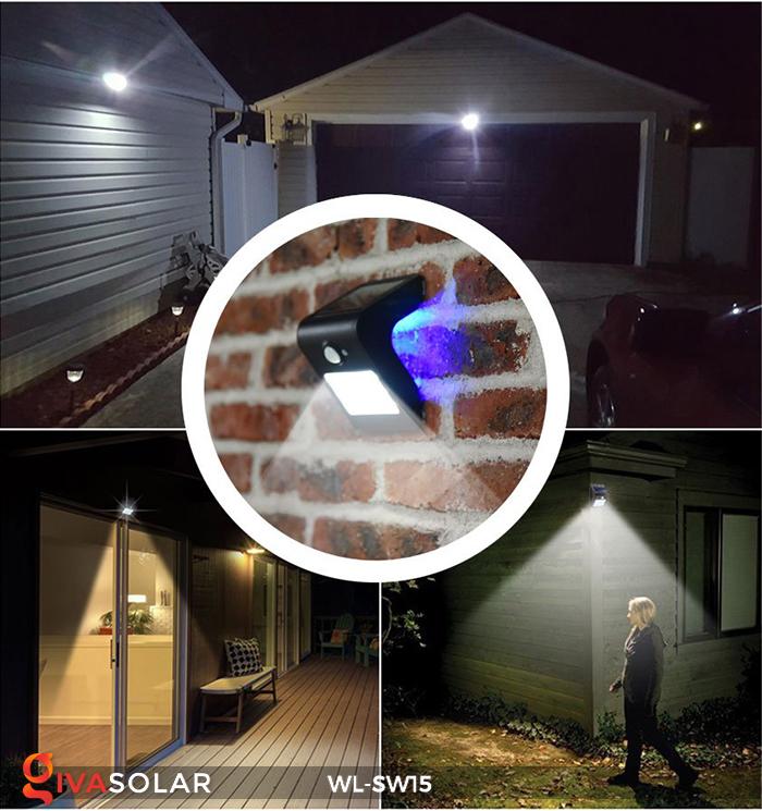 Đèn gắn tường sử dụng năng lượng mặt trời WL-SW15 27