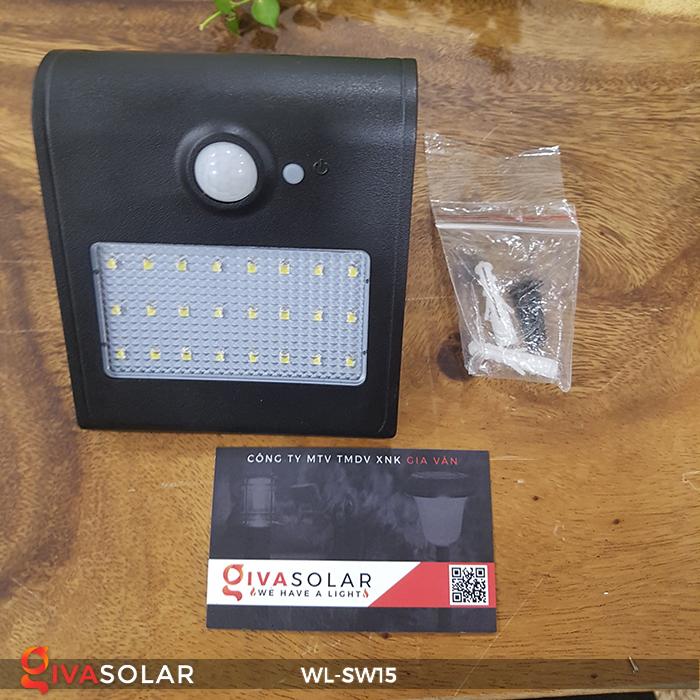 Đèn gắn tường sử dụng năng lượng mặt trời WL-SW15 4