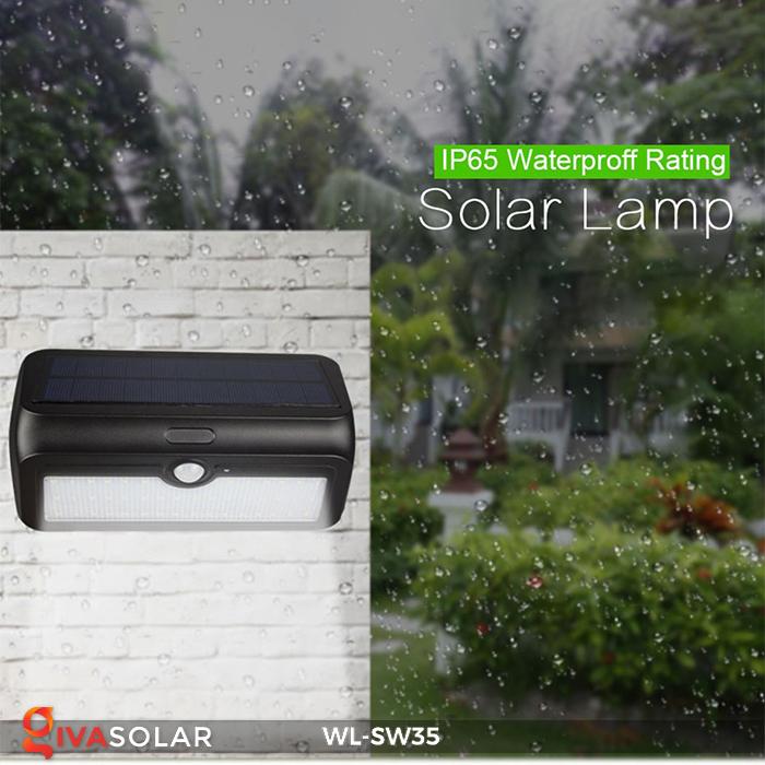 Đèn LED treo tường năng lượng mặt trời WL-SW35 10