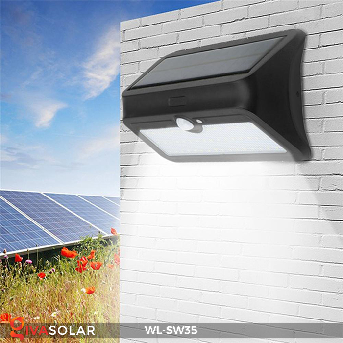 Đèn LED treo tường năng lượng mặt trời WL-SW35 12