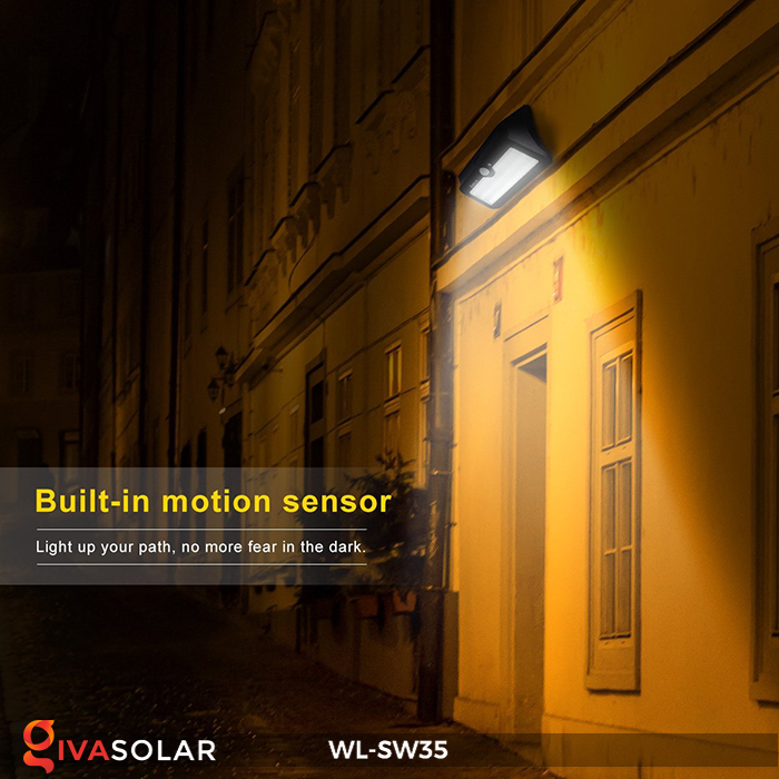 Đèn LED treo tường năng lượng mặt trời WL-SW35 18
