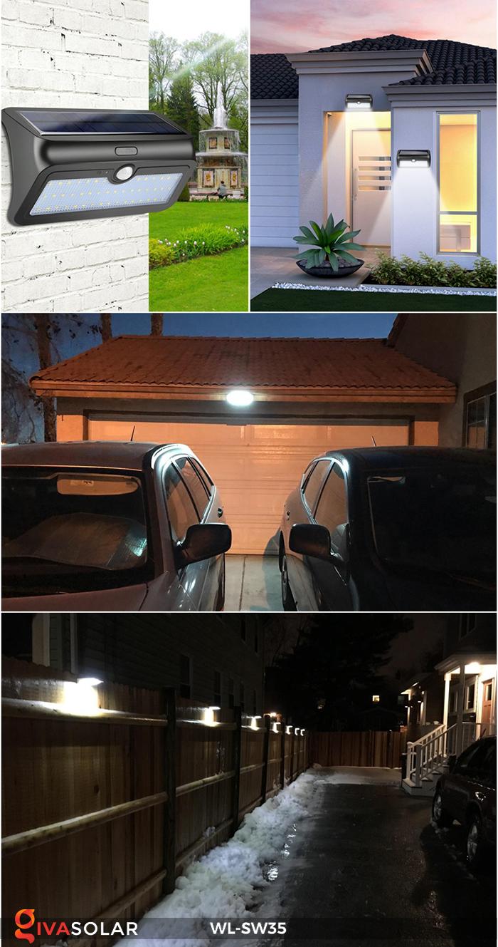Đèn LED treo tường năng lượng mặt trời WL-SW35 19