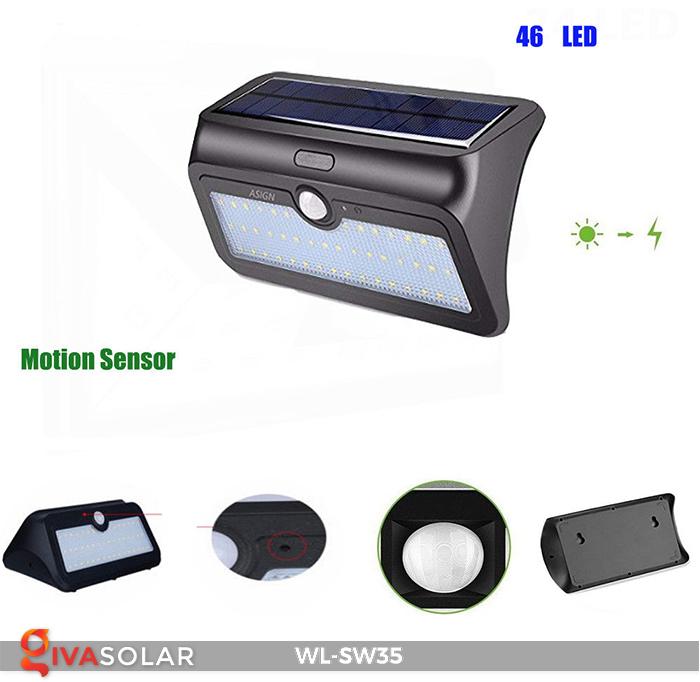 Đèn LED treo tường năng lượng mặt trời WL-SW35 24