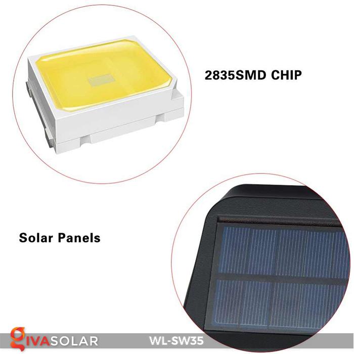 Đèn LED treo tường năng lượng mặt trời WL-SW35 26