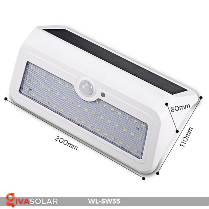 Đèn LED treo tường năng lượng mặt trời WL-SW35 28