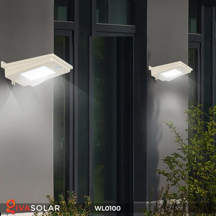 Đèn LED treo tường năng lượng mặt trời WL0100 11