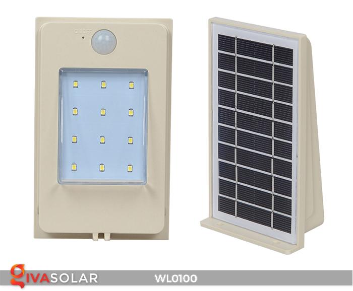 Đèn LED treo tường năng lượng mặt trời WL0100 3