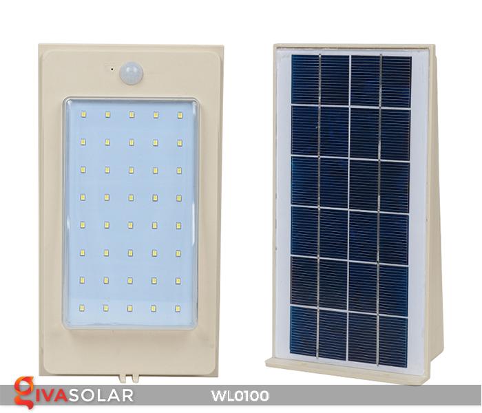 Đèn LED treo tường năng lượng mặt trời WL0100 4