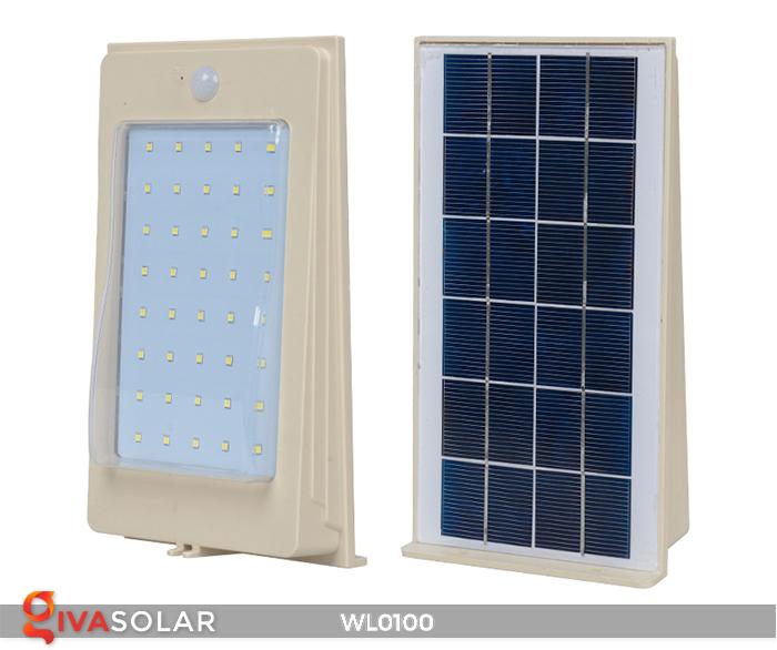 Đèn LED treo tường năng lượng mặt trời WL0100 5