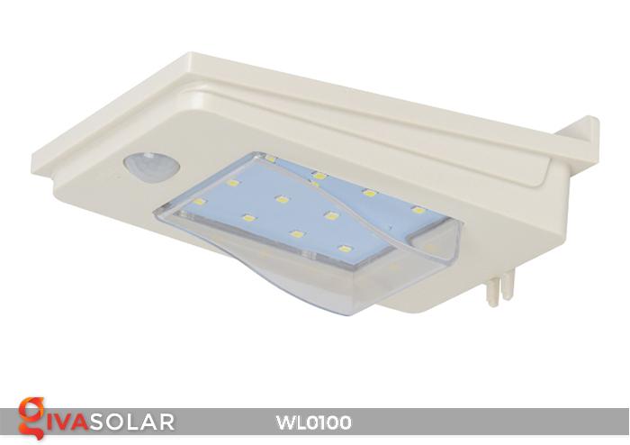 Đèn LED treo tường năng lượng mặt trời WL0100 8