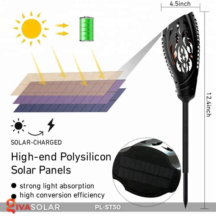Đèn ngọn đuốc năng lượng mặt trời PL-ST30 4