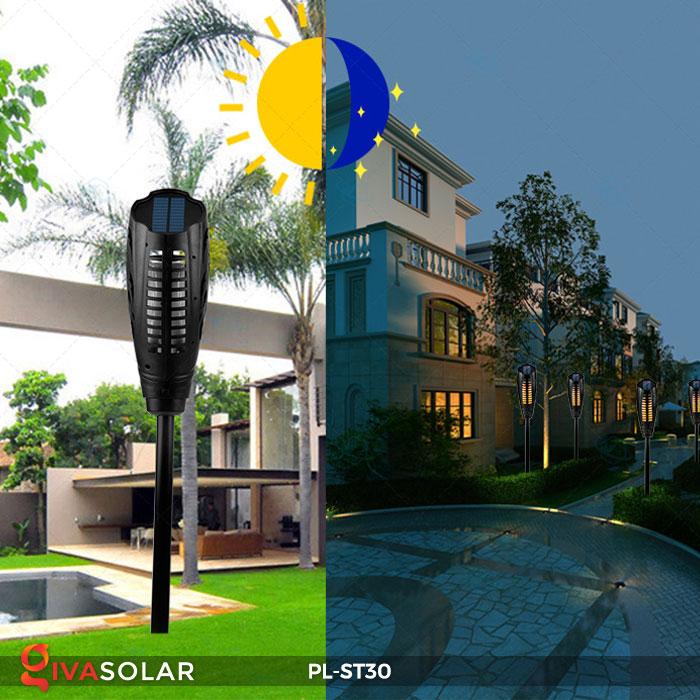 Đèn ngọn đuốc năng lượng mặt trời PL-ST30 5