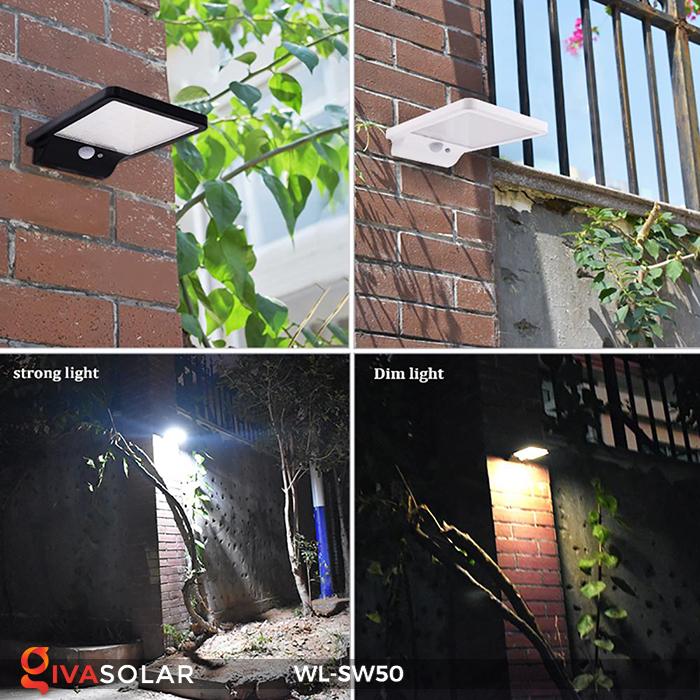 Đèn năng lượng mặt trời treo tường WL-SW50 13
