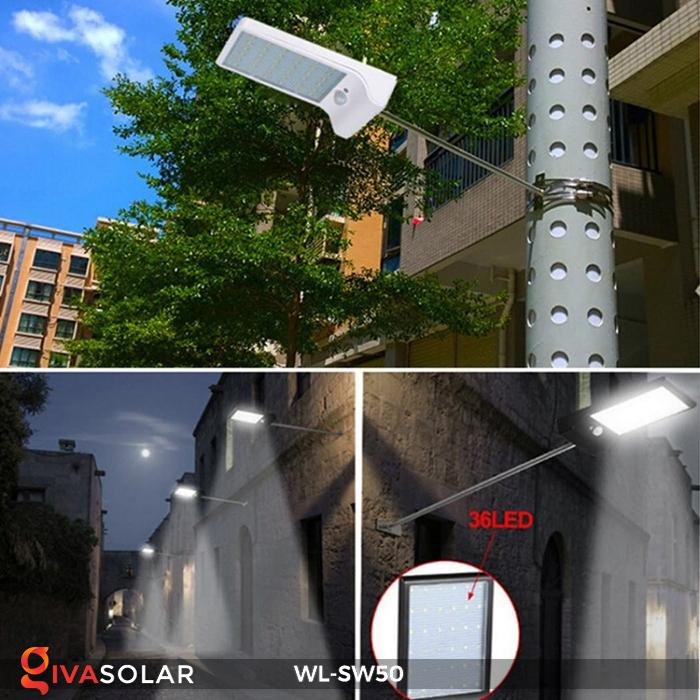 Đèn năng lượng mặt trời treo tường WL-SW50 14