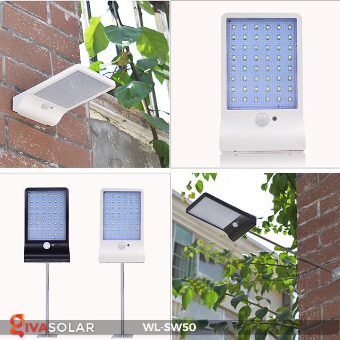 Đèn năng lượng mặt trời treo tường WL-SW50 24