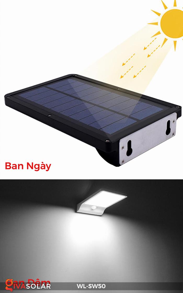Đèn năng lượng mặt trời treo tường WL-SW50 7