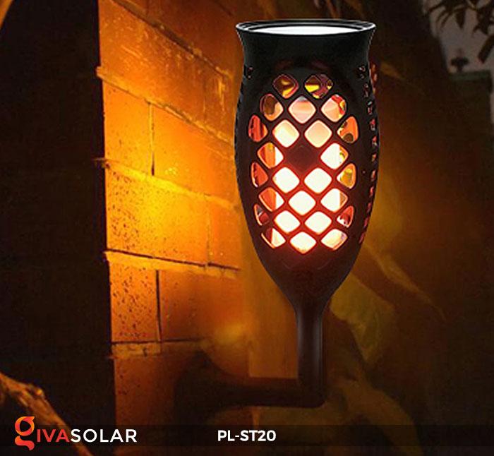Đèn năng lượng mặt trời hiệu ứng ngọn lửa PL-ST20 12
