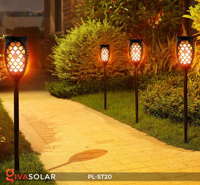 Đèn năng lượng mặt trời hiệu ứng ngọn lửa PL-ST20 13