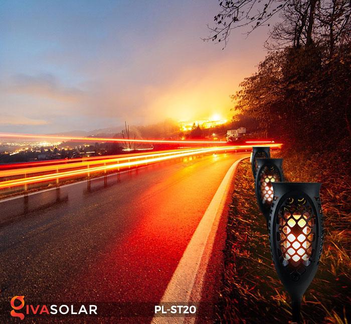 Đèn năng lượng mặt trời hiệu ứng ngọn lửa PL-ST20 14