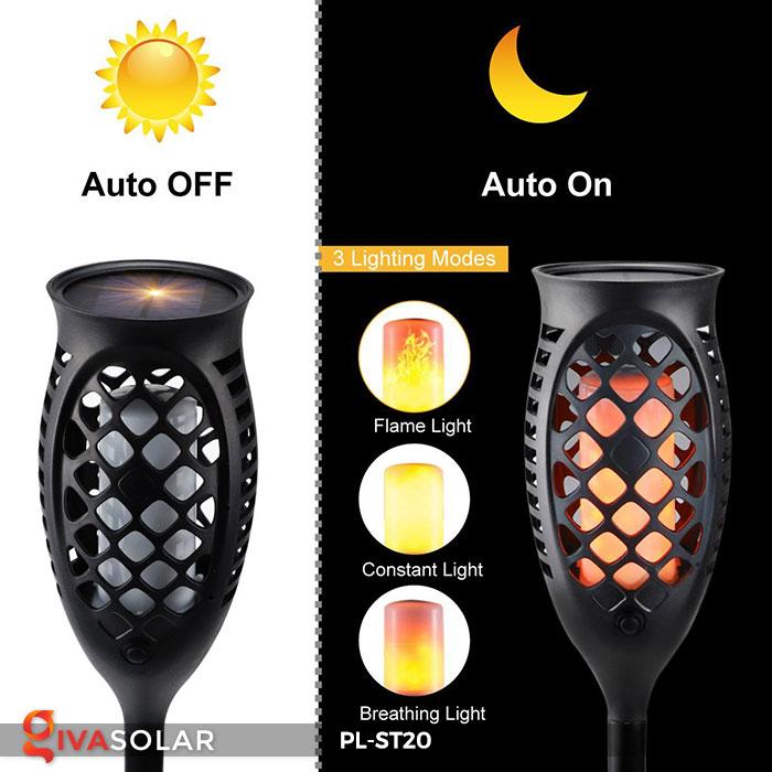 Đèn năng lượng mặt trời hiệu ứng ngọn lửa PL-ST20 3