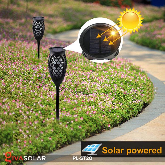 Đèn năng lượng mặt trời hiệu ứng ngọn lửa PL-ST20 5
