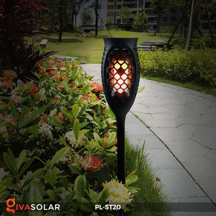 Đèn năng lượng mặt trời hiệu ứng ngọn lửa PL-ST20 8