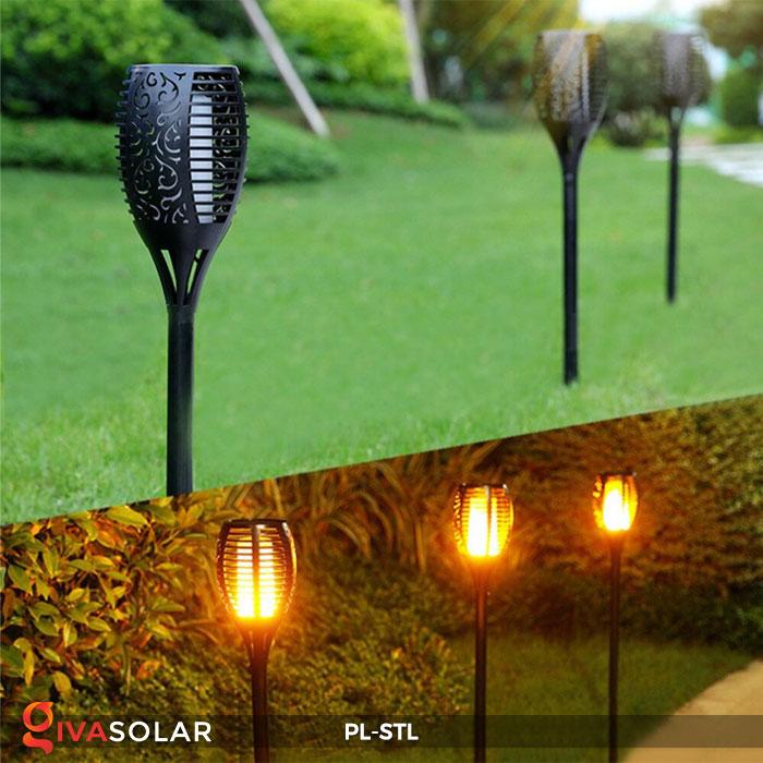 đèn hiệu ứng ngọn lửa năng lượng mặt trời pl-stl 10