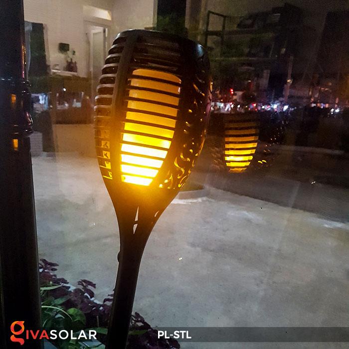 đèn hiệu ứng ngọn lửa năng lượng mặt trời pl-stl 12