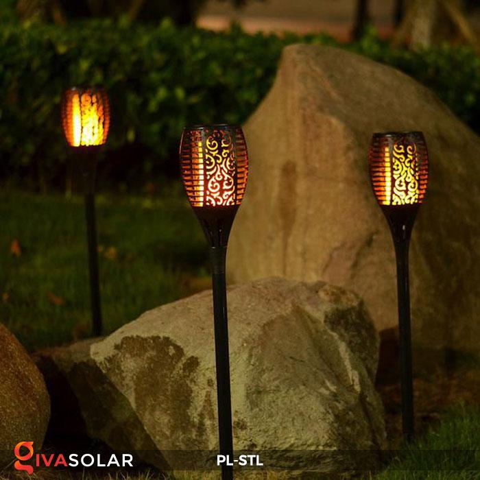 đèn hiệu ứng ngọn lửa năng lượng mặt trời pl-stl 17
