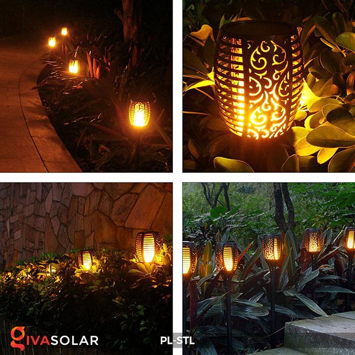 đèn hiệu ứng ngọn lửa năng lượng mặt trời pl-stl 18
