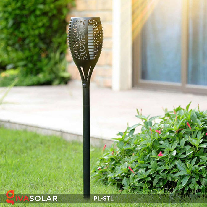 đèn hiệu ứng ngọn lửa năng lượng mặt trời pl-stl 8