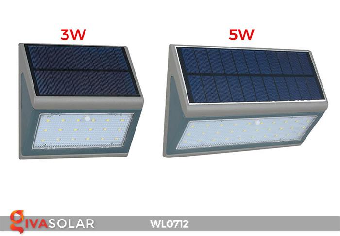 Đèn ốp tường năng lượng mặt trời WL0712 1