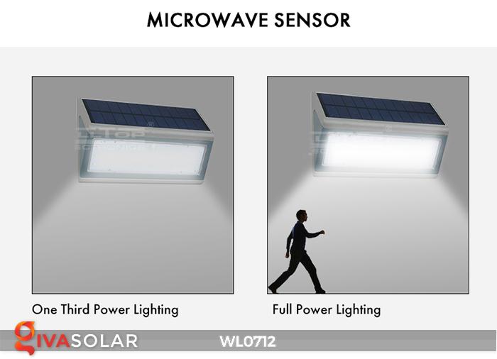 Đèn ốp tường năng lượng mặt trời WL0712 11