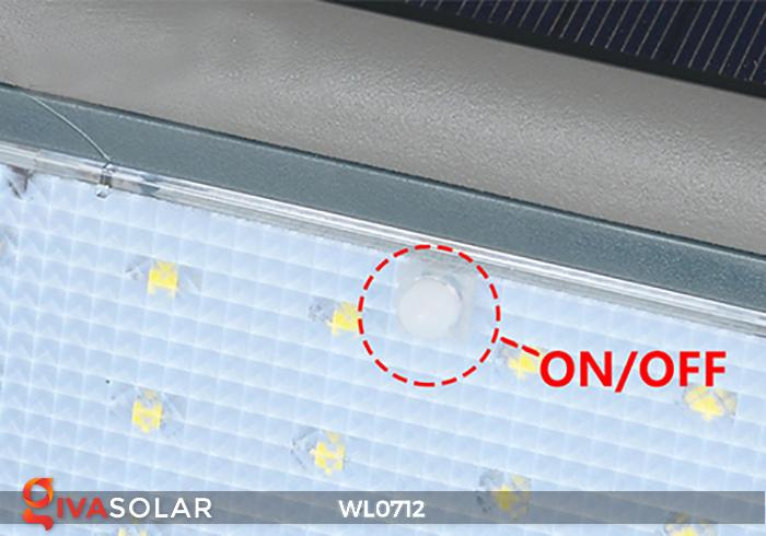 Đèn ốp tường năng lượng mặt trời WL0712 8