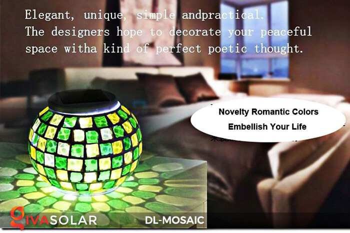 Đèn trang trí năng lượng mặt trời MOSAIC 13