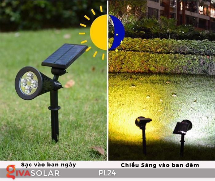 Đèn rọi tiểu cảnh năng lượng mặt trời PL24 1