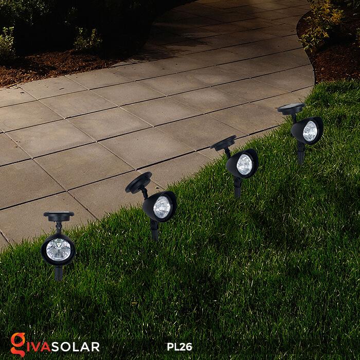 Đèn rọi tiểu cảnh năng lượng mặt trời pl26 13