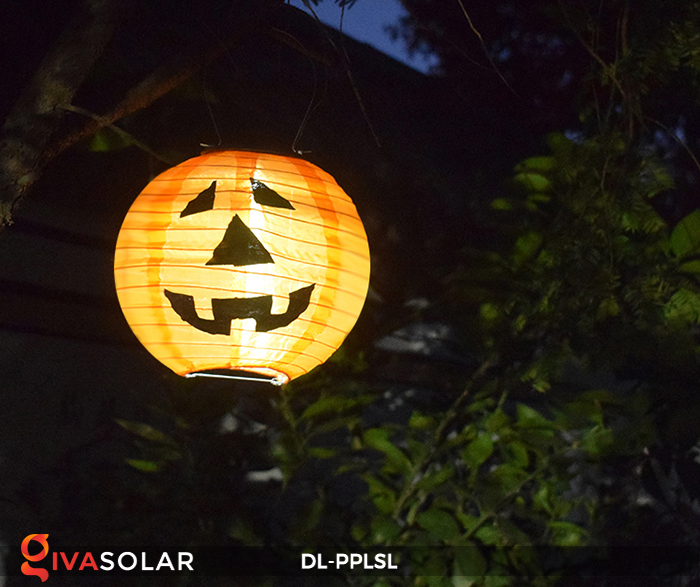 Đèn lồng bí ngô trang trí Halloween năng lượng mặt trời DL-PPLSL 10
