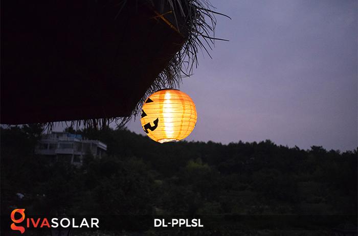 Đèn lồng bí ngô trang trí Halloween năng lượng mặt trời DL-PPLSL 12
