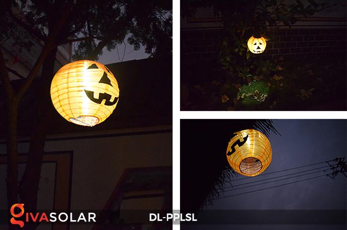 Đèn lồng bí ngô trang trí Halloween năng lượng mặt trời DL-PPLSL 13