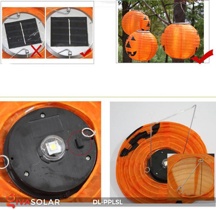 Đèn lồng bí ngô trang trí Halloween năng lượng mặt trời DL-PPLSL 16