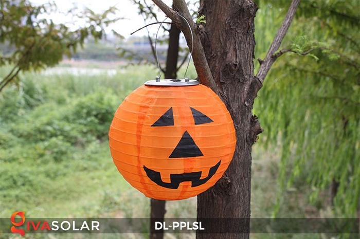Đèn lồng bí ngô trang trí Halloween năng lượng mặt trời DL-PPLSL 5