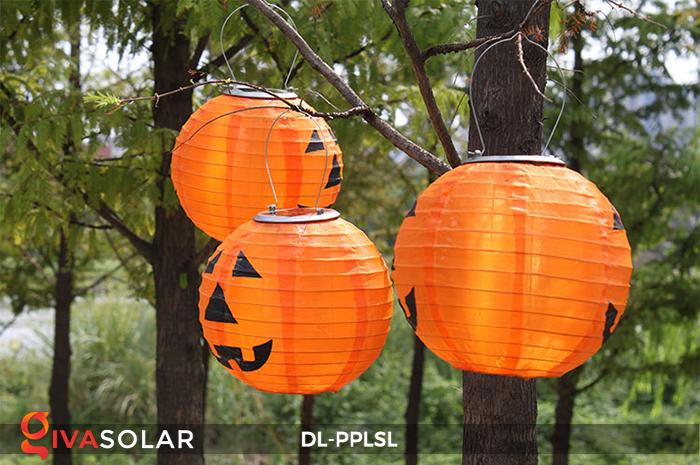 Đèn lồng bí ngô trang trí Halloween năng lượng mặt trời DL-PPLSL 6