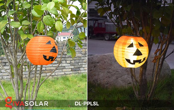 Đèn lồng bí ngô trang trí Halloween năng lượng mặt trời DL-PPLSL 9