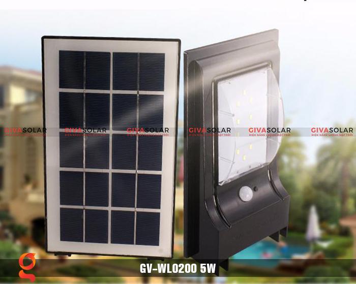 Đèn treo tường dùng năng lượng mặt trời WL0200 1