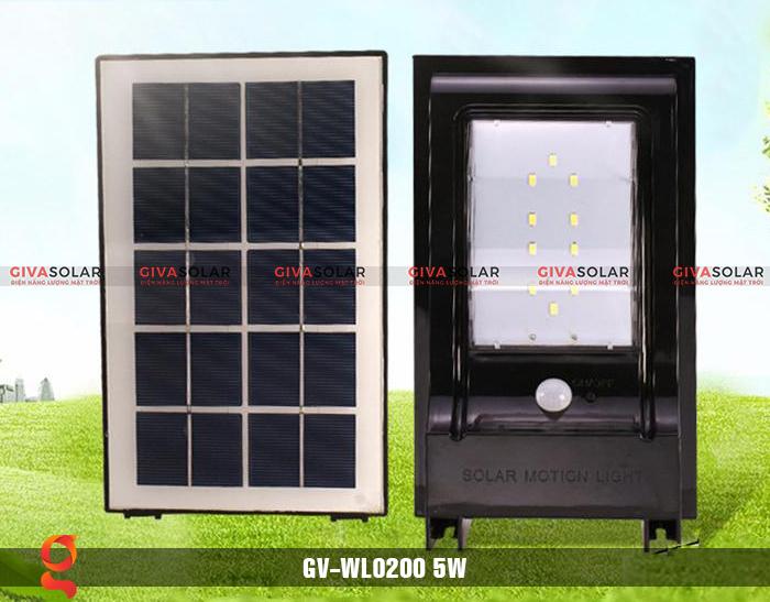Đèn treo tường dùng năng lượng mặt trời WL0200 4