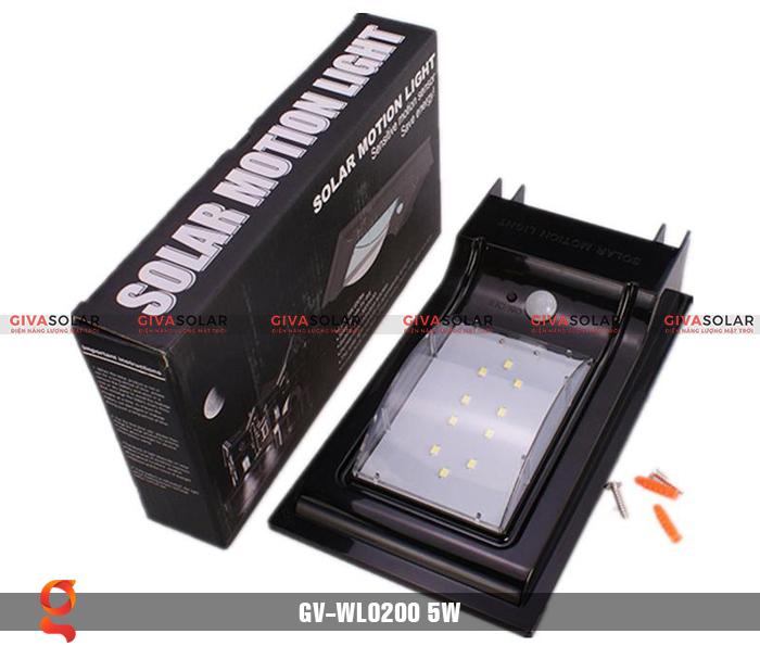 Đèn treo tường dùng năng lượng mặt trời WL0200 5