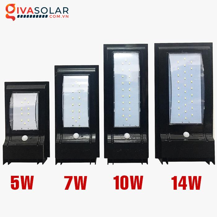 Đèn treo tường dùng năng lượng mặt trời WL0200