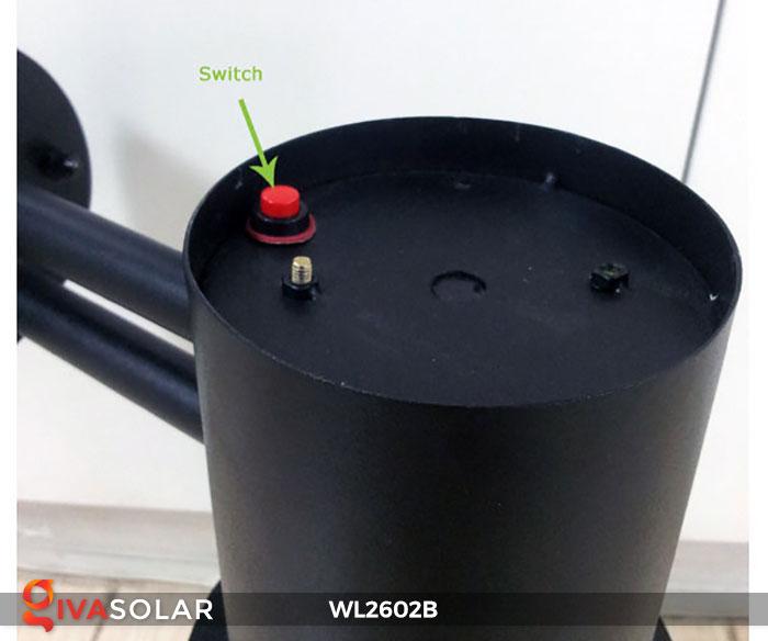 Đèn gắn tường năng lượng mặt trời WL2602B 10