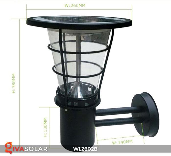 Đèn gắn tường năng lượng mặt trời WL2602B 8